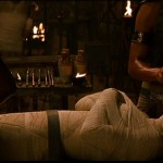 Imhotep being readied for burial alive