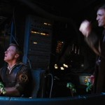 Wash (Alan Tudyk) and Mal on the bridge of the Serenity