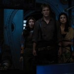 Serenity crew looks in horror at the space filled with Reaver ships